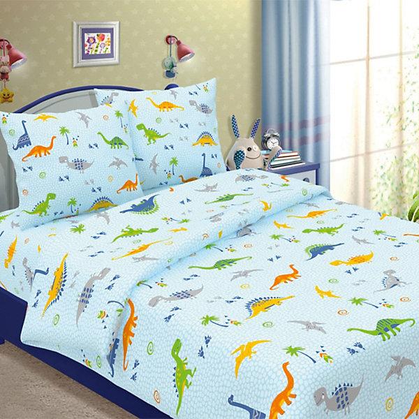 Фотография товара детское постельное белье 1,5 сп. Letto, Динно, голубой (7949340)