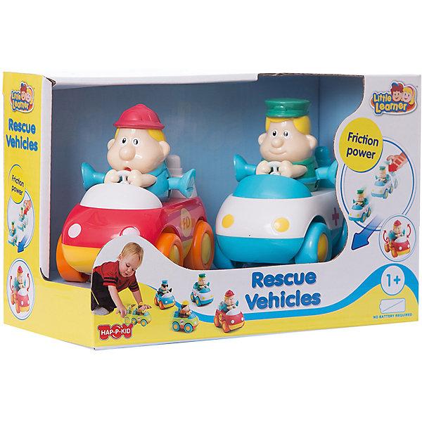 HAP-P-KID Спасательные машинки HAP-P-KID : пожарная+скорая помощь, 2 штуки в упаковке развивающие игрушки hap p kid пирамидка пчелка