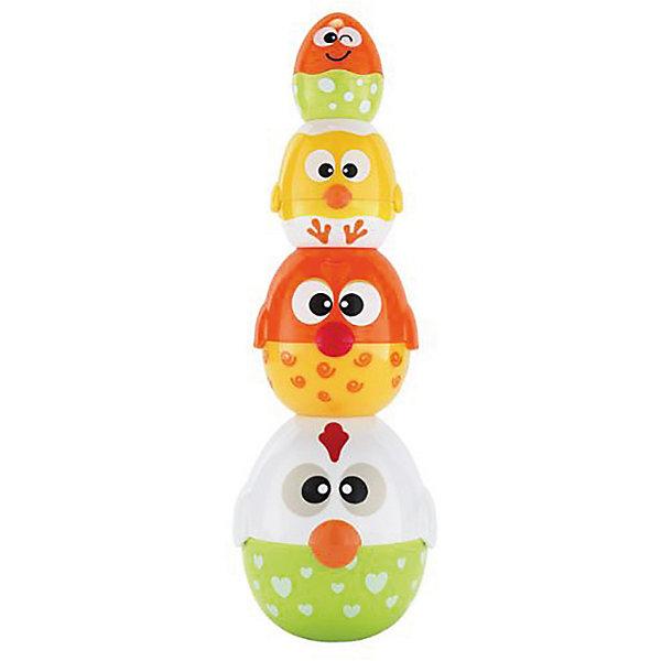 Игрушка HAP-P-KID Курочка-несушка (матрешка)Развивающие игрушки<br>Характеристики:<br><br>• возраст: от 6 месяцев<br>• в наборе: 4 яичка (каждое из двух половинок)<br>• материал: пластик<br>• упаковка: картонная коробка блистерного типа<br>• размер упаковки: 26х12,7х18,4 см.<br>• вес: 581 гр.<br><br>Яркая игрушка «Курочка-несушка» - это две развивающие игрушки в одном наборе.<br><br>Комплект состоит из 4 яиц различного цвета и размера, выполненных в виде забавных курочек и большого яйца. Каждое яйцо разбирается на 2 половинки. Ребенок может использовать игрушку в двух вариациях: как пирамидку (элементы складываются друг на друга в порядке возрастания их размеров) и как матрешку (элементы вкладываются друг в друга по размеру).<br><br>Игрушка сделана из качественного, ударопрочного пластика, окрашенного в яркие, насыщенные цвета безопасными красителями.<br><br>Игрушка позволяет развить мелкую моторику пальцев, ловкость рук, координацию движений, узнать, что такое больше-меньше, а также просто весело провести время.<br><br>Игрушку HAP-P-KID Курочка-несушка (матрешка) можно купить в нашем интернет-магазине.<br>Ширина мм: 260; Глубина мм: 127; Высота мм: 184; Вес г: 581; Возраст от месяцев: 12; Возраст до месяцев: 36; Пол: Унисекс; Возраст: Детский; SKU: 7958312;