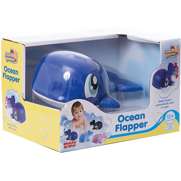 HAP-P-KID Игрушка для купания HAP-P-KID Водоплавающие, синий кит музыкальная игрушка hap p kid мой первый фотоаппарат