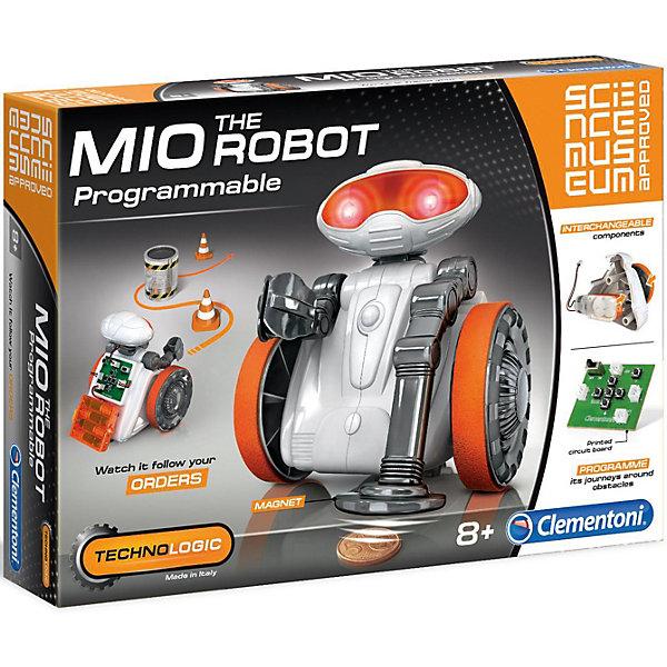 Конструктор Clementoni МИО РоботРобототехника и электроника<br>Характеристики товара:<br><br>• возраст: от 8 лет;<br>• материал: пластик;<br>• в комплекте: печатная плата, электродвигатели, видеоискатели, отсек для батарейки с крышкой, светодиоды 1-го класса, головка (2 части), корпус (2 части), защитный козырёк, шейка, оружие, ручки захвата, металлический детектор, держатель, колеса, роллер, резиновые ленты, магнит, линия окончательной обработки деталей, инструкция;<br>• размер упаковки: 45х7х31 см;<br>• вес упаковки: 1271 гр;<br>• страна производитель: Италия.<br><br>Оригинальный научный набор с помощью которого можно собрать настоящего робота! C помощью своей намагниченной руке способен захватывать металлические предметы. Комплект включает в себя широкий набор взаимозаменяемых деталей, чтобы преобразовать робота по своему вкусу. Иллюстрированное руководство содержит так много информации об электронике, что позволит стать настоящим робототехническим экспертом!<br><br>Конструктор Clementoni МИО Робот можно купить в нашем интернет-магазине.<br>Ширина мм: 451; Глубина мм: 70; Высота мм: 311; Вес г: 1271; Цвет: оранжевый/черный; Возраст от месяцев: 96; Возраст до месяцев: 1188; Пол: Мужской; Возраст: Детский; SKU: 7959030;
