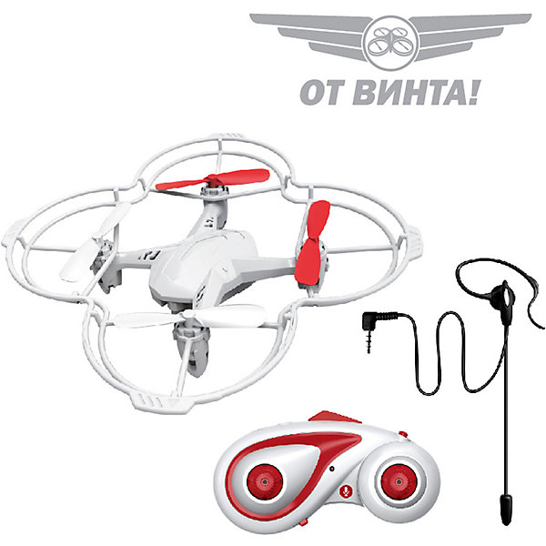 Радиоуправляемый квадрокоптер От винта! Fly-0245, голосовое управлениеКвадрокоптеры<br>Характеристики:<br><br>• возраст: 7+;<br>• материал: пластик, металл;<br>• батарейки для пульта управления: 3 шт. - ААА 1,5V (в комплект не входят); <br>• тип аккумулятора: Li-po 3,7V 350 mAh;<br>• время полета: 5-8 мин.;<br>• время подзарядки: 80 мин.;<br>• радиус действия пульта управления: 50 метров; <br>• размер квадрокоптера: 12,5х3,3х12,5 см;<br>• количество скоростей: 2;<br>• вес: 500 г.<br><br>Квадрокоптер на пульте управления – современная игрушка для детей и подростков. Данная модель может осуществлять движение вверх, вниз, вперед, назад, влево, вправо, а также боковые полеты и сальто на 360°.<br><br>Новейшая разработка - функция Headless Mode - режим автоматической ориентации квадрокоптера на пульт управления. Благодаря этому возможна быстрая стабилизация, две скорости полета, режим автопилота и 3D пилотаж.<br><br>За стабилизацию игрушки отвечает высокотехнологичная 6-осевая гироскопическая система. Также доступно голосовое управление (распознает 19 команд на русском языке). <br><br>Скорость и точность реакций квадрокоптера на отдаваемые команды позволит новичкам быстро освоить управление и понравится опытным пилотам.<br><br>Рекомендовано управление внутри просторного помещения или на улице в безветренную погоду.<br><br>Радиоуправляемый квадрокоптер Fly-0245 (голосовое управление), «От винта!» можно приобрести в нашем интернет-магазине.<br>Ширина мм: 330; Глубина мм: 75; Высота мм: 190; Вес г: 500; Возраст от месяцев: 84; Возраст до месяцев: 2147483647; Пол: Мужской; Возраст: Детский; SKU: 7959891;