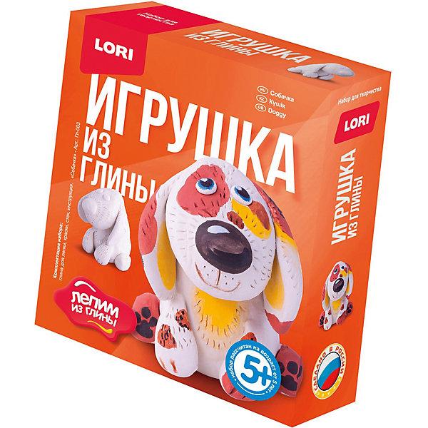 Набор для творчества LORI Лепим игрушку из глины СобачкаНаборы для лепки игровые<br>Характеристики:<br><br>• возраст: от 5 лет<br>• в наборе: глина для лепки, краски, стек, инструкция<br>• упаковка: картонная коробка<br>• размер упаковки: 11,3х4х13,5 см.<br>• вес: 280 гр.<br><br>Набор «Собачка» предназначен для создания объемной фигурки из белой глины. Подробная инструкция расскажет, как сделать это правильно.<br><br>Готовую фигурку следует просушить на открытом воздухе при комнатной температуре. После того, как фигурка высохнет, ее можно раскрасить красками, входящими в набор.<br><br>Дружелюбный щенок с милым взглядом, созданный своими руками, отлично подойдет в качестве подарка, игрушки или украшения дома.<br><br>Глина для лепки нетоксична и безопасна при использовании по назначению.<br><br>Набор развивает мелкую моторику, усидчивость и творческие способности ребенка.<br><br>Набор Игрушка из глины Собачка LORI (ЛОРИ) можно купить в нашем интернет-магазине.<br>Ширина мм: 113; Глубина мм: 40; Высота мм: 135; Вес г: 280; Цвет: разноцветный; Возраст от месяцев: 60; Возраст до месяцев: 2147483647; Пол: Унисекс; Возраст: Детский; SKU: 7960868;
