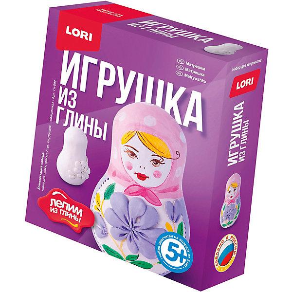LORI Набор для творчества Лепим игрушку из глины Матрешка