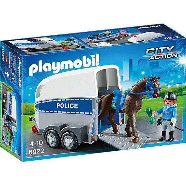 PLAYMOBIL® Конструктор Playmobil Полиция Полиция с лошадью и прицепом playmobil игровой набор трактор с прицепом