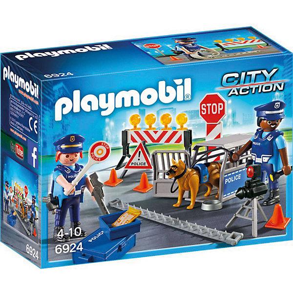 PLAYMOBIL® Конструктор Playmobil Полиция Блокпост Полиции