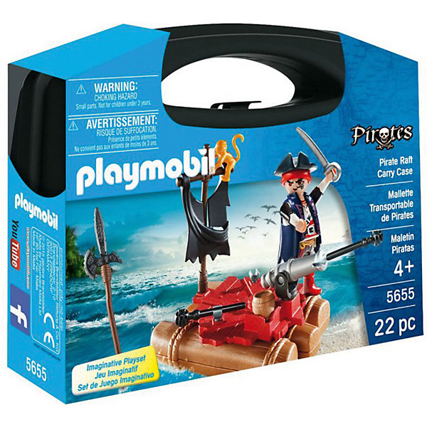 PLAYMOBIL® Конструктор Playmobil Возьми с собой Пиратский плот playmobil® playmobil 5554 парк развлечений аттракцион звездолет с огнями