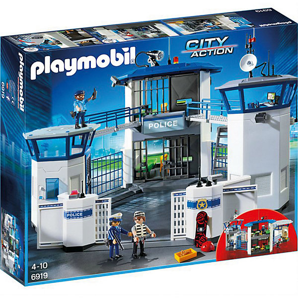 PLAYMOBIL® Конструктор Playmobil Полиция Штаб Полиции с Тюрьмой playmobil® в поисках приключений самолет борется с огнем playmobil