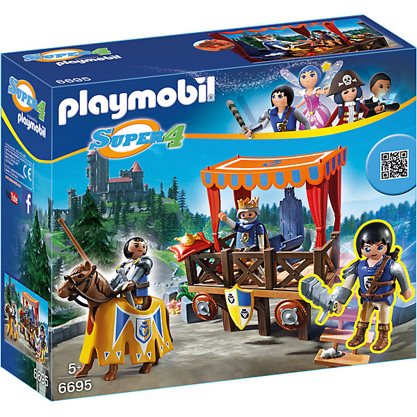 PLAYMOBIL® Конструктор Playmobil Супер 4 Королевская Трибуна с Алексом playmobil супер 4 акулья борода 4798