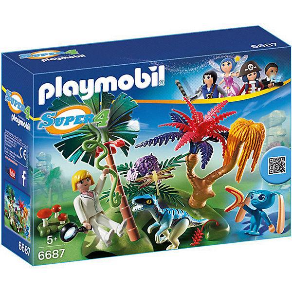 PLAYMOBIL® Конструктор Playmobil Супер 4 Затерянный остров с Алиен и Хищником playmobil спасатели с носилками
