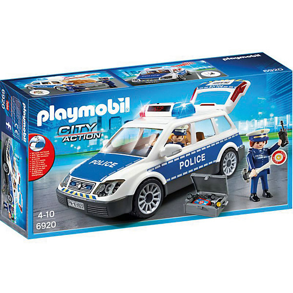 PLAYMOBIL® Конструктор Playmobil Полиция Полицейская машина со светом и звуком