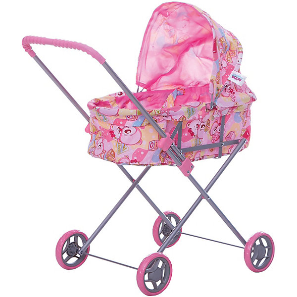 Buggy Boom Коляска для кукол Buggy Boom , светло-розовая buggy boom коляска для кукол buggy boom бежево розовая