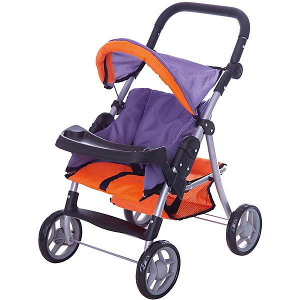 Коляска - трансформер Buggy Boom , оранжево-сиреневыйТранспорт и коляски для кукол<br>Характеристики товара:<br><br>• возраст: от 3 лет;<br>• материал: полиэстер, пластик, металл;<br>• размер коляски: 62х39х76 см;<br>• диаметр колес: 15 см;<br>• размер упаковки: 53х33х14 см;<br>• вес упаковки: 2,68 кг.<br><br>Коляска-трансформер для кукол Buggy Boom Skyna оранжево-сиреневая — коляска для любимой куколки девочки. Коляска оснащена удобным мягким сидением с бортиками для куклы, ручкой управления, складным капюшоном. Ручка для управления регулируется по высоте под рост девочки. В сидении куколка пристегивается ремешком безопасности. На сидении предусмотрен пластиковый столик для кормления куколки. Сидение выполнено из полиэстера, который легко моется по мере загрязнения. <br><br>Под сидением вместительная корзинка для вещей или игрушек. Небольшой вес коляски позволяет без труда управлять ей, выносить самостоятельно на прогулку и переносить. Для безопасности предусмотрена система защиты от случайного складывания. Рама выполнена из облегченного металла и устойчива к повреждениям. Коляска подойдет для кукол до 35 см.<br><br>Коляску-трансформер для кукол Buggy Boom Skyna оранжево-сиреневую можно приобрести в нашем интернет-магазине.<br>Ширина мм: 530; Глубина мм: 140; Высота мм: 330; Вес г: 2680; Цвет: оранжевый; Возраст от месяцев: 36; Возраст до месяцев: 60; Пол: Женский; Возраст: Детский; SKU: 7969204;