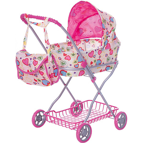 Buggy Boom Коляска для кукол Buggy Boom , бежево-розовая melobo коляска для кукол buggy boom mixy melobo