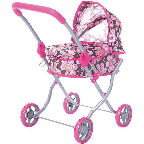 купить Buggy Boom Коляска для кукол Buggy Boom , коричнево-розовая недорого