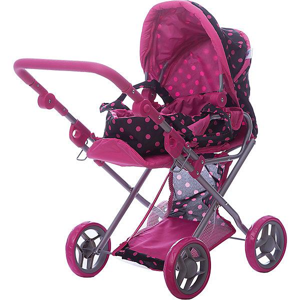 Фотография товара коляска - трансформер Buggy Boom , Коричневый в розовый горошек (7969262)