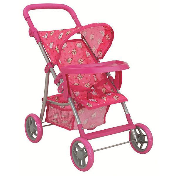 Фотография товара коляска для кукол Buggy Boom , розовый с мишками (7969291)
