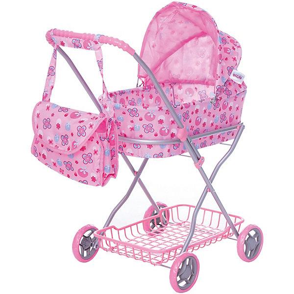 Buggy Boom Коляска для кукол с сумкой Buggy Boom, светло-розовая стоимость