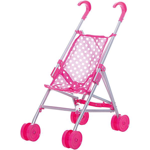 Коляска-трость для кукол Buggy Boom , розовый в горошекТранспорт и коляски для кукол<br>Характеристики товара:<br><br>• возраст: от 2 лет;<br>• материал: полиэстер, пластик, металл;<br>• размер коляски: 40х24х49 см;<br>• диаметр колес: 8 см;<br>• размер упаковки: 65х14х7 см;<br>• вес упаковки: 530 гр.<br><br>Коляска-трость для кукол Buggy Boom Mixy розовая в горошек — легкая коляска для любимой куколки девочки, которая поможет ей разнообразить игровой процесс. Коляска оснащена удобными ручками для управления и сдвоенными колесами, отличающимися хорошей устойчивостью. Небольшой вес коляски позволяет без труда управлять ей, выносить самостоятельно на прогулку и переносить. Рама выполнена из облегченного металла и устойчива к повреждениям.<br><br>В сидении куклу можно пристегнуть ремешками безопасности. Сидение выполнено из полиэстера, который легко моется по мере загрязнения. Коляска оснащена системой от случайного складывания, она складывается для хранения дома и переноски. Коляска подойдет для кукол до 30 см.<br><br>Коляску-трость для кукол Buggy Boom Mixy розовую в горошек можно приобрести в нашем интернет-магазине.<br>Ширина мм: 650; Глубина мм: 140; Высота мм: 70; Вес г: 530; Цвет: розовый; Возраст от месяцев: 24; Возраст до месяцев: 36; Пол: Женский; Возраст: Детский; SKU: 7969340;