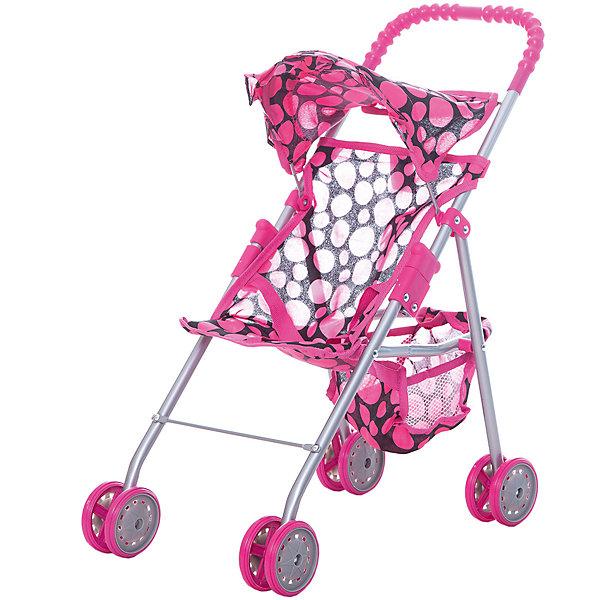 Коляска для кукол с козырьком Buggy Boom , В розовый горошекТранспорт и коляски для кукол<br>Характеристики товара:<br><br>• возраст: от 2 лет;<br>• материал: полиэстер, пластик, металл;<br>• размер коляски: 46х27х51 см;<br>• диаметр колес: 8 см;<br>• размер упаковки: 49х26х8 см;<br>• вес упаковки: 840 гр.<br><br>Коляска для кукол Buggy Boom Mixy розовая в горошек — легкая коляска для любимой куколки девочки, которая разнообразит игровой процесс. Коляска оснащена удобной ручкой для управления и сдвоенными колесами, отличающимися хорошей устойчивостью. Небольшой вес коляски позволяет без труда управлять ей, выносить самостоятельно на прогулку и переносить. Рама выполнена из облегченного металла и устойчива к повреждениям.<br><br>В сидении куклу можно пристегнуть ремешками безопасности. Сидение выполнено из полиэстера, который легко моется по мере загрязнения. На сидении небольшой складной козырек. За сидением расположена корзинка для вещей и мелочей. Коляска оснащена системой от случайного складывания, она складывается для хранения дома и переноски. Коляска подойдет для кукол до 35 см.<br><br>Коляску для кукол Buggy Boom Mixy розовую в горошек можно приобрести в нашем интернет-магазине.<br>Ширина мм: 490; Глубина мм: 260; Высота мм: 80; Вес г: 840; Цвет: розовый; Возраст от месяцев: 24; Возраст до месяцев: 36; Пол: Женский; Возраст: Детский; SKU: 7969350;