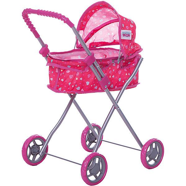 Buggy Boom Коляска для кукол Buggy Boom , ярко-розовая buggy boom коляска для кукол buggy boom бежево розовая
