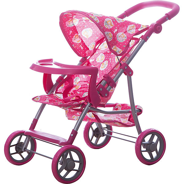 Фотография товара коляска для кукол Buggy Boom , розовый с рисунком (7969386)