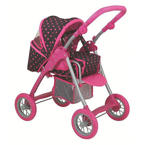 Фотография товара коляска - трансформер Buggy Boom , Коричневый в розовый горошек (7969405)