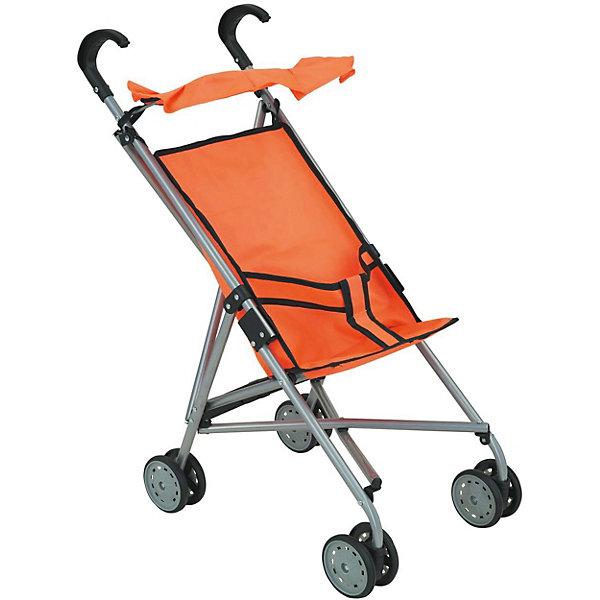 Коляска-трость для кукол Buggy Boom, оранжеваяТранспорт и коляски для кукол<br>Характеристики товара:<br><br>• возраст: от 2 лет;<br>• материал: полиэстер, пластик, металл;<br>• размер коляски: 52х33х56 см;<br>• размер упаковки: 76х14х15 см;<br>• вес упаковки: 665 гр.<br><br>Коляска-трость для кукол Buggy Boom Mixy оранжевая — легкая коляска для любимой куколки девочки, которая разнообразит игровой процесс. Коляска оснащена удобными ручками для управления и сдвоенными колесами, отличающимися хорошей устойчивостью. Передние колеса вращаются на 360 градусов, делая ее маневренной. <br><br>Небольшой вес коляски позволяет без труда управлять ей, выносить самостоятельно на прогулку и переносить. Рама выполнена из облегченного металла и устойчива к повреждениям.<br><br>В сидении куклу можно пристегнуть ремешками безопасности. Сидение выполнено из полиэстера, который легко моется по мере загрязнения. На сидении небольшой складной козырек. Коляска оснащена системой от случайного складывания, она складывается для хранения дома и переноски. Коляска подойдет для кукол до 35 см.<br><br>Коляску-трость для кукол Buggy Boom Mixy оранжевую можно приобрести в нашем интернет-магазине.<br>Ширина мм: 760; Глубина мм: 140; Высота мм: 150; Вес г: 665; Цвет: оранжевый; Возраст от месяцев: 24; Возраст до месяцев: 36; Пол: Женский; Возраст: Детский; SKU: 7969418;