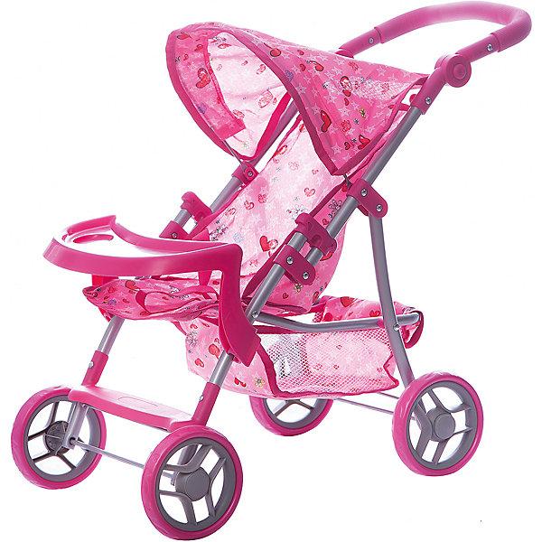 Коляска для кукол Buggy Boom , светло-розовый с сердечкамиТранспорт и коляски для кукол<br>Характеристики товара:<br><br>• возраст: от 3 лет;<br>• материал: полиэстер, пластик, металл;<br>• размер коляски: 59х34х62 см;<br>• диаметр колес: 15 см;<br>• высота ручки: 50-62 см;<br>• размер упаковки: 50х31х15 см;<br>• вес упаковки: 2,06 кг.<br><br>Коляска для кукол Buggy Boom Skyna светло-розовая с сердечками — прогулочная коляска для любимой куколки девочки. Коляска оснащена удобным сидением для куклы, ручкой управления, капюшоном. Ручка для управления регулируется по высоте под рост девочки. В сидении куколка пристегивается ремешком безопасности. На сидении предусмотрен пластиковый столик для кормления куколки. Сидение выполнено из полиэстера, который легко моется по мере загрязнения. <br><br>Сзади вместительная корзинка для вещей или игрушек. Небольшой вес коляски позволяет без труда управлять ей, выносить самостоятельно на прогулку и переносить. Для безопасности предусмотрена система защиты от случайного складывания. Рама выполнена из облегченного металла и устойчива к повреждениям. Коляска подойдет для кукол до 35 см.<br><br>Коляску для кукол Buggy Boom Skyna светло-розовую с сердечками можно приобрести в нашем интернет-магазине.<br>Ширина мм: 500; Глубина мм: 150; Высота мм: 310; Вес г: 2060; Цвет: розовый; Возраст от месяцев: 36; Возраст до месяцев: 60; Пол: Женский; Возраст: Детский; SKU: 7969426;