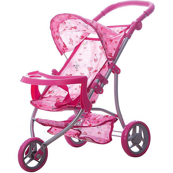 Фотография товара коляска - трансформер Buggy Boom , светло-розовый с сердечками (7969442)