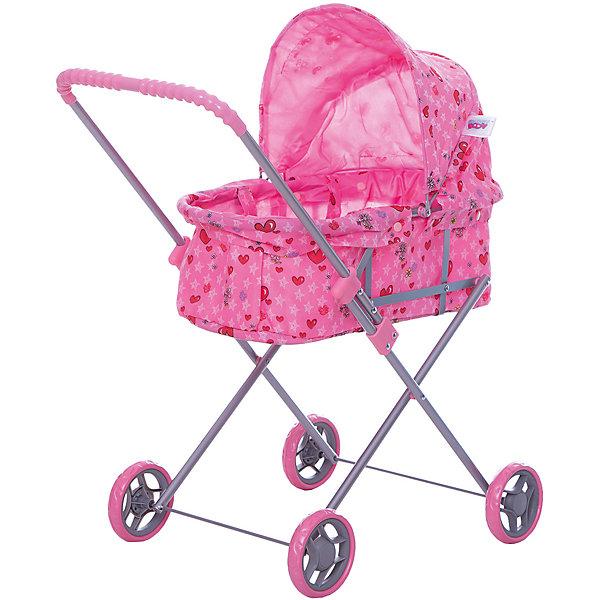 Коляска для кукол Buggy Boom , светло-розовый с сердечкамиТранспорт и коляски для кукол<br>Характеристики товара:<br><br>• возраст: от 2 лет;<br>• материал: полиэстер, пластик, металл;<br>• размер коляски: 65х36х74 см;<br>• диаметр колес: 11 см;<br>• размер упаковки: 67х36х5 см;<br>• вес упаковки: 1,665 кг.<br><br>Коляска для кукол Buggy Boom Mixy розовая с сердечками — коляска-люлька для любимой куколки девочки. Коляска оснащена удобной ручкой для управления, большими колесами и капюшоном. Сидение выполнено из полиэстера, который легко моется по мере загрязнения. Небольшой вес коляски позволяет без труда управлять ей, выносить самостоятельно на прогулку и переносить. Рама выполнена из облегченного металла и устойчива к повреждениям. Коляска подойдет для кукол до 40 см.<br><br>Коляску для кукол Buggy Boom Mixy розовую с сердечками можно приобрести в нашем интернет-магазине.<br>Ширина мм: 670; Глубина мм: 360; Высота мм: 50; Вес г: 1665; Цвет: розовый; Возраст от месяцев: 24; Возраст до месяцев: 36; Пол: Женский; Возраст: Детский; SKU: 7969448;