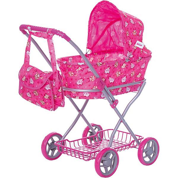 коляски для кукол Buggy Boom Коляска для кукол Buggy Boom , ярко-розовая
