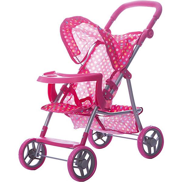 Коляска для кукол Buggy Boom , розовый в разноцветный горошекТранспорт и коляски для кукол<br>Характеристики товара:<br><br>• возраст: от 3 лет;<br>• материал: полиэстер, пластик, металл;<br>• размер коляски: 59х34х62 см;<br>• диаметр колес: 15 см;<br>• высота ручки: 50-62 см;<br>• размер упаковки: 50х31х15 см;<br>• вес упаковки: 2,06 кг.<br><br>Коляска для кукол Buggy Boom Skyna розовая в разноцветный горошек — прогулочная коляска для любимой куколки девочки. Коляска оснащена удобным сидением для куклы, ручкой управления, капюшоном. Ручка для управления регулируется по высоте под рост девочки. В сидении куколка пристегивается ремешком безопасности. На сидении предусмотрен пластиковый столик для кормления куколки. Сидение выполнено из полиэстера, который легко моется по мере загрязнения. <br><br>Сзади вместительная корзинка для вещей или игрушек. Небольшой вес коляски позволяет без труда управлять ей, выносить самостоятельно на прогулку и переносить. Для безопасности предусмотрена система защиты от случайного складывания. Рама выполнена из облегченного металла и устойчива к повреждениям. Коляска подойдет для кукол до 35 см.<br><br>Коляску для кукол Buggy Boom Skyna розовую в разноцветный горошек можно приобрести в нашем интернет-магазине.<br>Ширина мм: 500; Глубина мм: 150; Высота мм: 310; Вес г: 2060; Цвет: розовый; Возраст от месяцев: 36; Возраст до месяцев: 60; Пол: Женский; Возраст: Детский; SKU: 7969468;