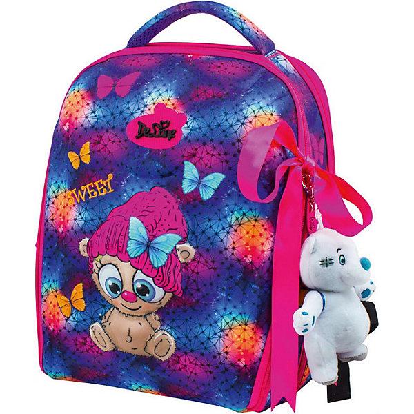 DeLune Ранец DeLune 7mini-011 с мешком для обуви и пеналом + брелок-мишка ранец delune delune рюкзак школьный 7mini 010 для девочки розовый