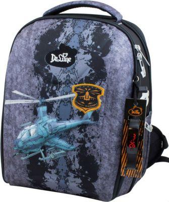 Ранец DeLune 7mini-012 с мешком для обуви и пеналом + часы, артикул:7969624 - Школьные рюкзаки и ранцы