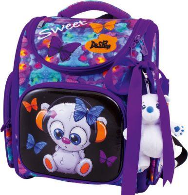 Ранец DeLune 3-167 с мешком для обуви + брелок-мишка, артикул:7969632 - Школьные рюкзаки и ранцы