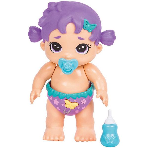 Интерактивная кукла Moose Bizzy Bubs Полли ЛепестокИнтерактивные куклы<br>Характеристики:<br><br>• возраст: от 5 лет;<br>• материал: пластик;<br>• в наборе: кукла, бутылочка, соска;<br>• тип батареек: 4хLR44;<br>• наличие батареек: в комплекте;<br>• вес упаковки: 210 гр.;<br>• размер упаковки: 6,7х21х22 см;<br>• страна бренда: Австралия.<br><br>Малыш Moose Bizzy Bubs – это интерактивный пупс с цветными волосами, который умеет ползать, говорить, пить из бутылочки и сосать пустышку. Чтобы активировать функции игрушки, нужно нажать на кнопку на подгузнике. Пупс полностью выполнен из качественного пластика. Отсек с батарейками находится под волосами. Ручки и ножки подвижны.<br><br>Малыша Bizzy Bubs «Полли Лепесток» можно купить в нашем интернет-магазине.<br>Ширина мм: 67; Глубина мм: 210; Высота мм: 220; Вес г: 210; Цвет: фиолетовый; Возраст от месяцев: 60; Возраст до месяцев: 2147483647; Пол: Женский; Возраст: Детский; SKU: 7979566;
