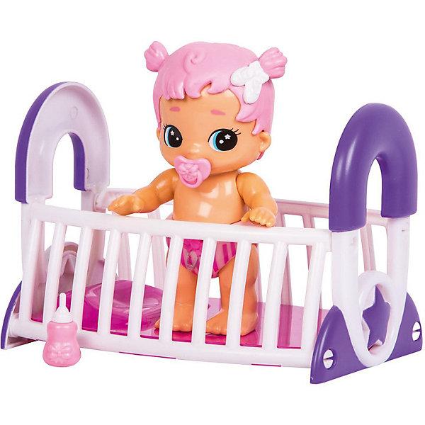 Интерактивная кукла Moose Bizzy Bubs Грейси с кроваткойКуклы<br>Характеристики:<br><br>• возраст: от 5 лет;<br>• материал: пластик;<br>• в наборе: кукла, бутылочка, соска, кроватка;<br>• тип батареек: 4хLR44;<br>• наличие батареек: в комплекте;<br>• вес упаковки: 700 гр.;<br>• размер упаковки: 23,5х17х22 см;<br>• страна бренда: Австралия.<br><br>Интерактивная кукла Moose Bizzy Bubs – это пупс с цветными волосами, который умеет говорить, прыгать в кроватке, пить из бутылочки и сосать пустышку. Чтобы активировать функции игрушки, нужно нажать на кнопку на подгузнике. Пупс полностью выполнен из качественного пластика. Отсек с батарейками находится под волосами. Ручки и ножки подвижны.<br><br>Интерактивную куклу Bizzy Bubs «Грейси» с кроваткой можно купить в нашем интернет-магазине.<br>Ширина мм: 235; Глубина мм: 170; Высота мм: 220; Вес г: 700; Цвет: розовый; Возраст от месяцев: 60; Возраст до месяцев: 2147483647; Пол: Женский; Возраст: Детский; SKU: 7979568;