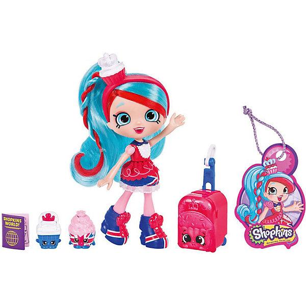 Мини-кукла Moose Shopkins Путешествие в Европу, ДжессикексКуклы<br>Характеристики:<br><br>• возраст: от 5 лет;<br>• материал: пластик;<br>• в наборе: кукла, 2 фигурки Shopkins, чемодан, паспорт, багажная бирка, подставка для куклы;<br>• вес упаковки: 230 гр.;<br>• размер упаковки: 17х7х27 см;<br>• страна бренда: Австралия.<br><br>Куколка Shoppies серии «Путешествие в Европу» от бренда Moose выполнена в красочном дизайне под стиль европейской страны. Цветные волосы можно расчесывать. У куклы есть друзья – две забавные фигурки в виде еды. Номер на документе куклы открывает доступ к игровым мобильным приложениям.<br><br>Для устойчивого положения игрушки предусмотрена подставка. Набор выполнен из качественных безопасных материалов.<br><br>Куклу Shoppies Джессикекс «Путешествие в Европу» можно купить в нашем интернет-магазине.<br>Ширина мм: 270; Глубина мм: 178; Высота мм: 170; Вес г: 230; Цвет: синий; Возраст от месяцев: 60; Возраст до месяцев: 2147483647; Пол: Женский; Возраст: Детский; SKU: 7979570;
