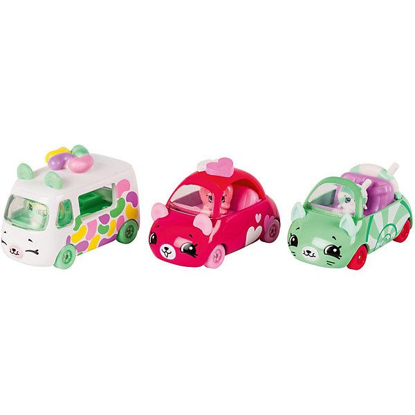 Игровой набор Moose Cutie Car Три машинки с мини-фигурками Shopkins, Candy ComboКоллекционные фигурки<br>Характеристики:<br><br>• возраст: от 5 лет;<br>• материал: пластик;<br>• в наборе: 3 машинки Cutie Car, 3 фигурки водителей мини-Shopkins, брошюра коллекционера;<br>• вес упаковки: 220 гр.;<br>• размер упаковки: 7х23х16 см;<br>• страна бренда: Австралия.<br><br>Набор из коллекции Shopkins Cutie Car от бренда Moose создан специально для девочек. Комплект включает миловидные кабриолет, фургон и машинку в виде забавных животных с ушками. К ним прилагаются соответствующие по дизайну фигурки Shopkins. Их можно усадить в транспорт.<br><br>В этой линейке представлены кабриолеты, багги и внедорожники с откидной крышей, а также фургончики со сладостями. Собрав всю коллекцию, ребенок сможет устраивать заезды, придумывать сюжетные игры. Колеса игрушек подвижны. Выполнено из качественных безопасных материалов.<br><br>3 машинки Cutie Car с мини-фигурками Shopkins S1 в блистере в асс. можно купить в нашем интернет-магазине.<br>Ширина мм: 7; Глубина мм: 23; Высота мм: 16; Вес г: 220; Цвет: розовый; Возраст от месяцев: 60; Возраст до месяцев: 2147483647; Пол: Женский; Возраст: Детский; SKU: 7979576;
