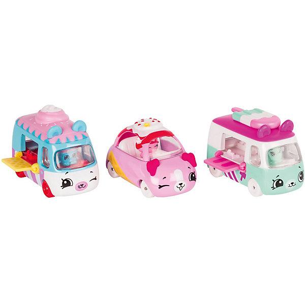 Игровой набор Moose Cutie Car Три машинки с мини-фигурками Shopkins, Freezy RaidersКоллекционные фигурки<br>Характеристики:<br><br>• возраст: от 5 лет;<br>• материал: пластик;<br>• в наборе: 3 машинки Cutie Car, 3 фигурки водителей мини-Shopkins, брошюра коллекционера;<br>• вес упаковки: 220 гр.;<br>• размер упаковки: 7х23х16 см;<br>• страна бренда: Австралия.<br><br>Набор из коллекции Shopkins Cutie Car от бренда Moose создан специально для девочек. Комплект включает миловидные фургоны и машинку в виде забавных животных с ушками. К ним прилагаются соответствующие по дизайну фигурки Shopkins. Их можно усадить в транспорт, подняв у него крышу.<br><br>В этой линейке представлены кабриолеты, багги и внедорожники с откидной крышей, а также фургончики со сладостями. Собрав всю коллекцию, ребенок сможет устраивать заезды, придумывать сюжетные игры. Колеса игрушек подвижны. Выполнено из качественных безопасных материалов.<br><br>3 машинки Cutie Car с мини-фигурками Shopkins S1 в блистере в асс. можно купить в нашем интернет-магазине.<br>Ширина мм: 7; Глубина мм: 23; Высота мм: 16; Вес г: 220; Цвет: розовый; Возраст от месяцев: 60; Возраст до месяцев: 2147483647; Пол: Женский; Возраст: Детский; SKU: 7979678;