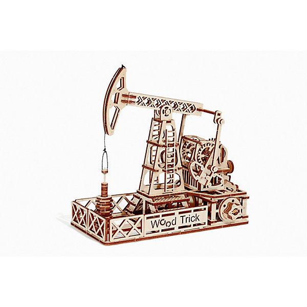 Сборная модель Wood Trick Нефтяная ВышкаДеревянные модели<br>Характеристики:<br><br>• возраст: от 14 лет;<br>• материал: дерево;<br>• количество деталей: 120;<br>• вес упаковки: 800 гр.;<br>• размер упаковки: 37х18х3 см;<br>• страна производитель: Украина.<br><br>Сборная модель Wood Trick Нефтяная Вышка представляет собой действующую уменьшенную модель настоящей нефтяной вышки. Она состоит из 120 деталей, с его сборкой справится как взрослый, так и ребенок, тем более, что к набору прилагается простая и понятная инструкция. Внимательно ознакомьтесь с инструкцией по сборке, и вы сможете легко собрать собственную модель нефтяной вышки!<br><br>Изделие выполнено из гладкой березовой фанеры, не имеющей заусенцев, поэтому удобно для покраски и безопасно для сборки.<br><br>Сборная модель Wood Trick Нефтяная Вышка  можно купить в нашем интернет-магазине.<br>Ширина мм: 370; Глубина мм: 185; Высота мм: 35; Вес г: 800; Цвет: бежевый; Возраст от месяцев: 168; Возраст до месяцев: 1188; Пол: Унисекс; Возраст: Детский; SKU: 7980854;