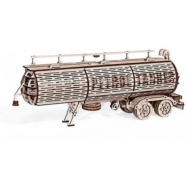 Сбоная модель  Wood Trick Прицеп ЦистернаДеревянные модели<br>Характеристики:<br><br>• возраст: от 14 лет;<br>• материал: дерево;<br>• количество деталей: 485;<br>• вес упаковки: 1200 гр.;<br>• размер упаковки: 37х18х3 см;<br>• страна производитель: Украина.<br><br>Прицеп цистерна является дополнением к основной модели Тягач. Он имеет специальную соединительную деталь для установки. Цистерна прицеп и грузовик тягач станут идеальным комплектом для вашей коллекции.<br>Конструктор был разработан с применением новых усовершенствованных деталей. Во процессе сборки, вы почувствуете себя настоящим проектировщиком, который претворяет в жизнь реальные модели машин.<br>Цистерна закрывается специальным механизмом, что позволяет хранить и перевозить внутри нее ценные ресурсы. Она соединяется с грузовиком надежным креплением, которое было разработано специально для этой модели.<br><br>Изделие выполнено из гладкой березовой фанеры, не имеющей заусенцев, поэтому удобно для покраски и безопасно для сборки.<br><br>Сбоная модель  Wood Trick Прицеп Цистерна можно купить в нашем интернет-магазине.<br>Ширина мм: 370; Глубина мм: 185; Высота мм: 35; Вес г: 1100; Цвет: бежевый; Возраст от месяцев: 168; Возраст до месяцев: 1188; Пол: Унисекс; Возраст: Детский; SKU: 7980856;
