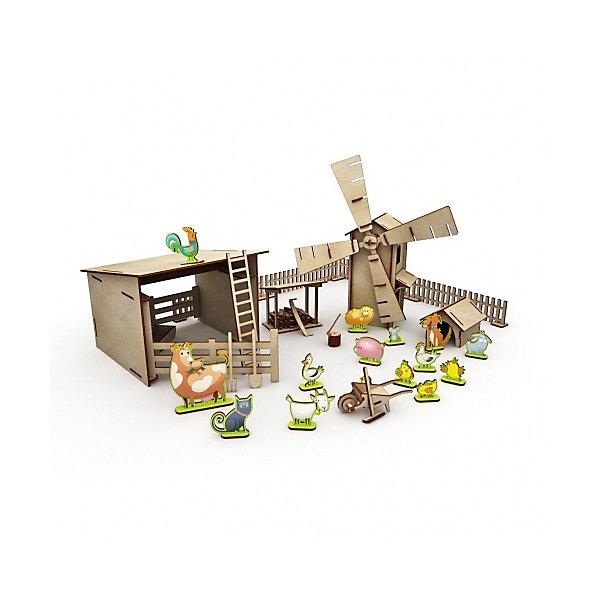 Хэппикон Сборная модель ХэппиДом Большая ферма с животными хэппидом сборная модель хэппидом коттедж с пристройкой и мебелью