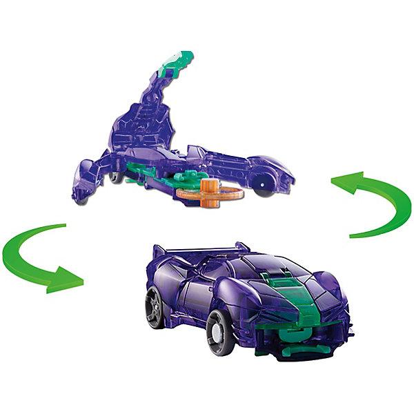 Машинка-трансформер Дикие Скричеры Стингшифт л1Трансформеры-игрушки<br>Характеристики:<br><br>• возраст: от 3 лет;<br>• материал: пластик;<br>• цвет: фиолетовый;<br>• вес: 140 гр;<br>• размер: 20,5х4,8х16 см;<br>• страна бренда: Китай;<br>• бренд: Screechers Wild.<br><br>Машинка-трансформер Screechers Wild  «Стингшифт л1» - единственная в своем роде игрушка. Она превращается в зверя, переворачиваясь в воздухе на 360! Машинка разгоняется, ловит специальный диск, делает кувырок и самостоятельно трансформируется прямо в воздухе. Обратно в машинку игрушка собирается вручную. Несколько движений - и она опять готова к новому кувырку.<br><br>Машинка-трансформер обладает прочной конструкцией с надежными креплениями и выполнена из высококачественного материала. В набор входит машинка-трансформер (8х4х3 см) и 2 магнитных диска диаметром 3 см. <br><br>Всего в линейке Скричеров представлено 16 машинок, каждая из которых является отдельным персонажем. Машинки могут превращаться в животных, птиц, динозавров или рептилий. Самое время собрать всю команду Скричеров!<br><br><br>Машинку-трансформер Screechers Wild  «Стингшифт л1» можно купить в нашем интернет-магазине.<br>Ширина мм: 205; Глубина мм: 160; Высота мм: 48; Вес г: 140; Возраст от месяцев: 36; Возраст до месяцев: 120; Пол: Мужской; Возраст: Детский; SKU: 7981311;