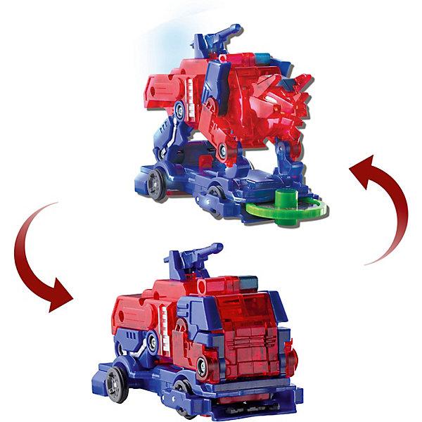 Машинка-трансформер Дикие Скричеры Пирозавр л2Трансформеры-игрушки<br>Характеристики:<br><br>• возраст: от 3 лет;<br>• материал: пластик;<br>• цвет: красный, синий;<br>• вес: 210 гр;<br>• размер: 22,7х19,5х7 см;<br>• страна бренда: Китай;<br>• бренд: Screechers Wild.<br><br>Машинка-трансформер Screechers Wild  «Пирозавр л2» -  единственная в своем роде игрушка. Она превращается в зверя, переворачиваясь в воздухе на 360! Машинка разгоняется, ловит специальный диск, делает кувырок и самостоятельно трансформируется в животное прямо в воздухе. Обратно в машинку игрушка собирается вручную. Несколько движений - и она опять готова к новому кувырку.<br><br>Машинка-трансформер обладает прочной конструкцией с надежными креплениями и выполнена из высококачественного материала. В набор входит машинка-трансформер (9х5х6 см) и 3 магнитных диска диаметром 3 см. Игрушка упакована в блистер (19.5х7х23 см).<br><br>Всего в линейке Скричеров представлено 16 машинок, каждая из которых является отдельным персонажем. Машинки могут превращаться в животных, птиц, динозавров или рептилий. Самое время начать собирать всю коллекцию Скричеров!<br><br>Машинку-трансформер Screechers Wild  «Пирозавр л2» можно купить в нашем интернет-магазине.