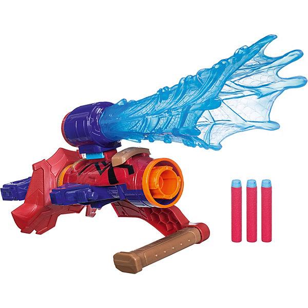 Игрушка экипировка Человека-паука AVENGERS (E2134)Другие наборы<br>Характеристики:<br><br>• возраст: от 5 лет;<br>• материал: пластик;<br>• в наборе: перчатка, 3 части бластера, 3 стрелы;<br>• размер упаковки: 8,3х35,6х27,9 см;<br>• страна бренда: США.<br><br>Экипировка Человека-паука Nerf Avengers состоит из нескольких функциональных частей. Корпус надевается на руку и может использоваться как пушка с мягкими стрелами, мощный выстрел обеспечивает классическая система пуска бластеров Nerf.<br><br>Часть с голубой паутиной можно надеть сверху бластера или прямо на ствол. Кроме того, ее можно снять и играть отдельно в качестве холодного оружия. Бластеры супергероев, входящие в серию «Мстители», комбинируются между собой. С помощью деталей можно собрать свой собственный уникальный бластер. Сделано из прочных качественных материалов.<br><br>Экипировку Человека-паука Avengers (E2134) можно купить в нашем интернет-магазине.<br>Ширина мм: 356; Глубина мм: 281; Высота мм: 91; Вес г: 749; Возраст от месяцев: 60; Возраст до месяцев: 120; Пол: Мужской; Возраст: Детский; SKU: 7984967;
