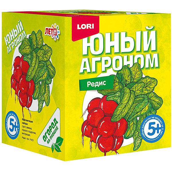 Набор для выращивания Lori Юный агроном РедисВыращивание растений<br>Характеристики товара:<br><br>• возраст: от 5 лет;<br>• размер упаковки: 8х10х8 см;<br>• вес упаковки: 355 гр.;<br>• страна бренда: Россия.<br><br>Набор для выращивания растений - не только оригинальный подарок, но и яркий способ, воспитать в ребёнке ответственность. Благодаря данному набору ребёнок может наблюдать за ростом и развитием растений и самостоятельно ухаживать за ними.<br><br>Юный агроном Lori Редис можно купить в нашем интернет-магазине.<br>Ширина мм: 118; Глубина мм: 99; Высота мм: 98; Вес г: 355; Цвет: красный/зеленый; Возраст от месяцев: 60; Возраст до месяцев: 2147483647; Пол: Унисекс; Возраст: Детский; SKU: 7985326;