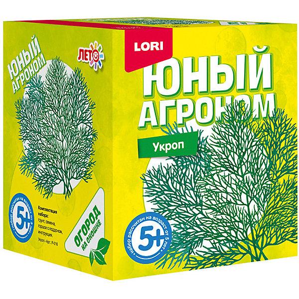 Набор для выращивания Lori Юный агроном Укроп 7985330