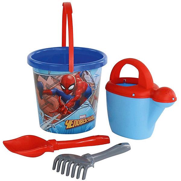 Polesie Набор игрушек для песочницы Полесье Marvel Человек-Паук № 9, 4 предмета hemar набор для песочницы 3 предмета п 0505
